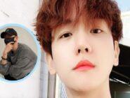 Baekhyun de EXO comparte una fotografía después de afeitarse la cabeza para su alistamiento militar