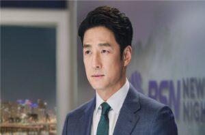 Ji Jin Hee es un presentador de noticias en nuevas imágenes de 'The Road: The Tragedy of One'