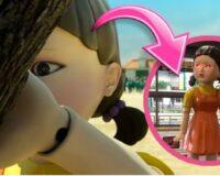 La espeluznante muñeca gigante de «Squid Game» de Netflix visita las Filipinas